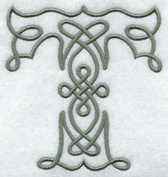 Celtic Knotwork Letter T - 5 Inch