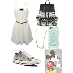Cute school #3 by ellenks on Polyvore featuring polyvore, fashion, style, Converse, Steve Madden, Jessica Elliot and Topshop
