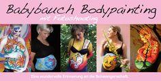 Babybauch Bodypainting mit Fotoshooting. Eine wundervolle Erinnerung an die Schwangerschaft. www.color-diving.com