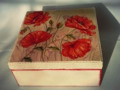 #box #wood #diy #decoupage #flowers #spring #folk #poland