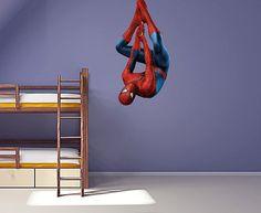 Full Colour Spiderman v2 wall sticker nursery kids bedroom decal mural graphic boys superhero on Etsy, $10.98