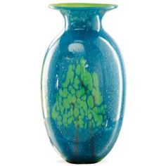 "# 849078A Tree of Life 16"" Art Glass Vase by sensationaltreasures"