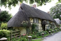 English cottage thatched roof