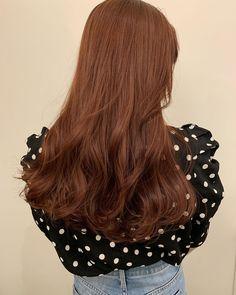 Pretty Hair Color, Hair Color Purple, Hair Dye Colors, Lip Colors, Brown Hair Korean, Korean Hair Color, Asian Red Hair, Hair Color Streaks, Hair Color Auburn