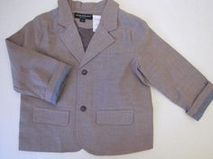 WENDY BELLISSIMO Boys Tan Cotton Blazer 12, 18 or 24 Months Ret $50 NWT #WendyBellissimo
