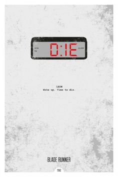 Blade Runner minimal poster