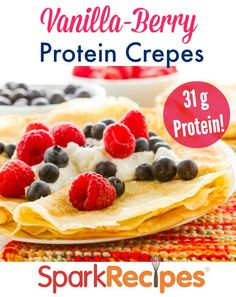Protein Crepes Recipe. Try these for breakfast! So good and filling! | via @SparkRecipes