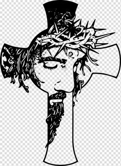 White Tattoo Cross, Jesus On Cross Tattoo, Tribal Cross Tattoos, Christ Tattoo, Cross Drawing, Pop Art Drawing, Christian Drawings, Christian Art, Christian Cross Tattoos