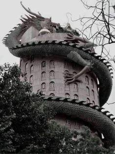 Wat Sampran Dragon Temple Thailand The Temple of Wat Samphran - Thailand Dragons, Dragon House, Temple Thailand, Bangkok Thailand, Thailand Travel, Dragon Art, Dragon Glass, Dragon Statue, Beautiful Architecture