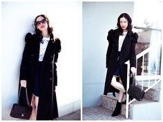 Get this look: http://lb.nu/look/8596489  More looks by Lisa Valerie Morgan: http://lb.nu/lisavm  Items in this look:  Juicy Couture Coat, Chanel Bag, Steve Madden Boots   #chic #classic #street #fashionblogger #winterinla #storetsonme #stevemadden #ootd