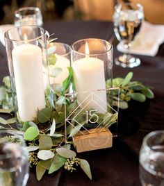 Wedding Table Centerpieces, Wedding Table Numbers, Wedding Tables, Centrepieces, Table Centre Pieces Wedding, Inexpensive Wedding Centerpieces, Card Table Wedding, Simple Centerpieces, Tent Wedding