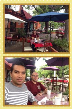 Aprovechando que no hubo clases por la mañana nos escapamos a desayunar a Ajijic y disfrutamos de la llovizna y la fresca mañana!!!  29/05/14