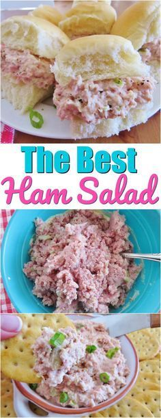 The Best Ham Salad recipe from The Country Cook The best ham salad recipe only requires a food processor, mayonnaise, celery, onion and perfectly combined seasonings! This is the most requested ham salad! Ham Salad Recipes, Salad Recipes For Dinner, Dinner Salads, Pork Recipes, Keto Recipes, Low Carb Ham Salad Recipe, Ham Salad Recipe With Bologna, Recipes With Ham, Ham Sandwich Recipes