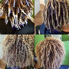 Natural straw set done with flexi rods. How to use flexi rods on natural and relaxed hairstyles, tutorials for short and long hair, big curls http://www.shorthaircutsforblackwomen.com/flexi-rods-on-natural-hair/