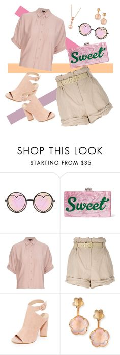 """""""March💛💚💙💜"""" by lannaparkl ❤ liked on Polyvore featuring Betsey Johnson, Edie Parker, Topshop, Moschino, Kendall + Kylie, Pasquale Bruni and LE VIAN"""
