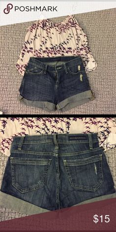 Rock & Republic Shorts Worn once. Too short for me! Super cute though. Size 4! Rock & Republic Shorts Jean Shorts