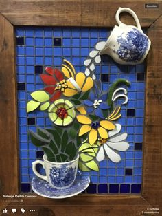 We have come across the most amazing Mosaic Wall Art Ideas and you are going to fall head over heels as we did. Mosaic Garden Art, Mosaic Tile Art, Mosaic Pots, Mosaic Artwork, Mosaic Crafts, Mosaic Projects, Stone Mosaic, Mosaic Glass, Mosaic Designs