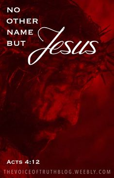"""Acts """"Salvation is found in no one else, for there is no other name under heaven given to mankind by which we must be saved."""" THE NAME OF JESUS! Scripture Verses, Bible Scriptures, Faith Quotes, Bible Quotes, Godly Quotes, Acts 4 12, Sinners Prayer, God Jesus, Jesus Christ"""