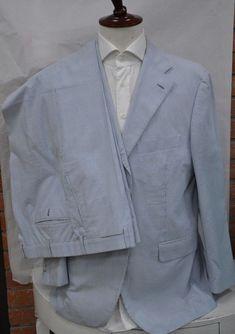 675fcafe6a7 Belvest LIGHT BLUE suit pre-owned cotton size us 44 eu 54  fashion