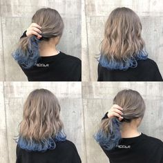 Hair Color Streaks, Hair Dye Colors, Ombre Hair Color, Cool Hair Color, Lavender Hair Colors, Lilac Hair, Blue Hair, Dip Dye Hair, Dye My Hair