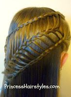 arrow braid hair style tutorial