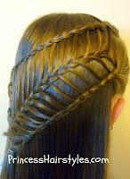 arrow braid hair style tutorial