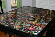 Audie's Oddities: I Spy Table. Instructions to make your very own I SPY table-so cool!