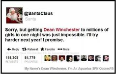 Dean Winchester christmas gift