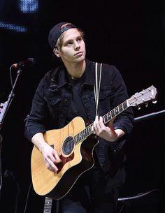 Luke Hemmings  on stage at Radio City Christmas Live - Liverpool, Dec. 10