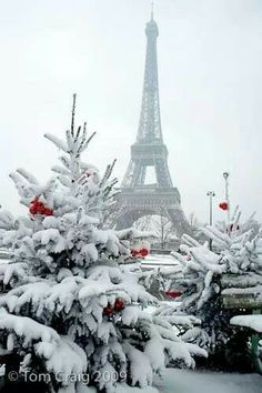 Paris in the snow.