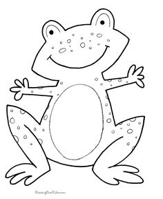 coloring pages for kids | Frog coloring page to print and color