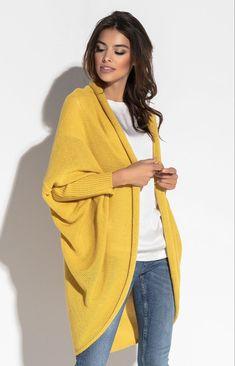 Kardigan F555 - Sklep OHSO.pl™ Plaid Scarf, Sari, Accessories, Fashion, Tricot, Saree, Moda, Fashion Styles, Fashion Illustrations