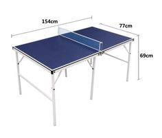 Blue #folding por#table #table #tennis #table ping pong #table sets children kids gi,  View more on the LINK: http://www.zeppy.io/product/gb/2/182189724950/