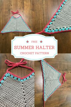 """A friend told me crochet was a """"old lady hobby"""", and then I made her my summer crochet halter top. Needless to say she now thinks crochet is totally cool and even asked me to Crochet Halter Tops, Motif Bikini Crochet, Shorts Crochet, Bikinis Crochet, Crochet Summer Tops, Crochet Vests, Top Tejidos A Crochet, T-shirt Au Crochet, Crochet Mignon"""