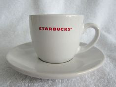 Starbucks 2008 Expresso Cup & Saucer 3 fl. oz Set Collectible Gift