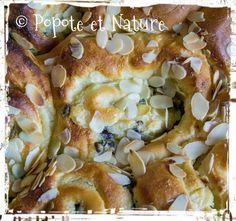 © Popote et Nature -brioche façon chinois à la crème pâtissière à l'amande et aux pépites de chocolat