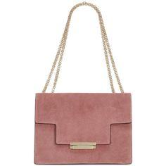 SUEDE SHOULDER BAG (24.568.000 IDR) ❤ liked on Polyvore featuring bags, handbags, shoulder bags, shoulder handbags, white purse, suede shoulder bag, suede handbags and shoulder hand bags