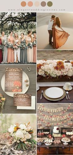 orange red, warm brown,cream and warm taupe fall wedding color ideas october wedding colors schemes / fall wedding ideas colors october / fall wedding ideas november / fall winter wedding / fall colors for wedding Trendy Wedding, Perfect Wedding, Our Wedding, Dream Wedding, Elegant Wedding, Wedding Season, Wedding Music, Warm Wedding Dress, Wedding Dresses With Color