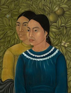 Frida Kahlo (Mexican, 1907–1954), Dos Mujeres (Salvadora y Herminia), 1928. Oil on canvas. Photograph © Museum of Fine Arts, Boston.