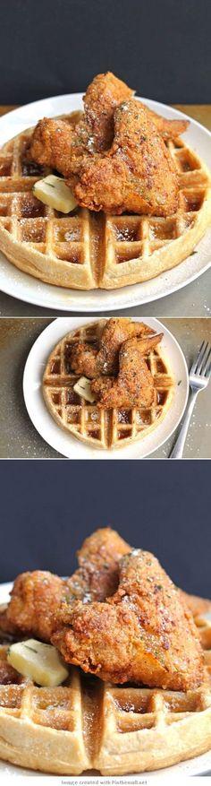 Homemade #Chicken and #Waffles  #friedchicken