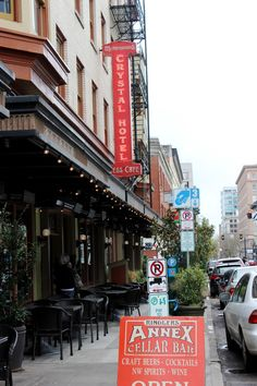 Portland's West End-- a hot new/old neighborhood that's great for visitors and checking out Portland's food scene.
