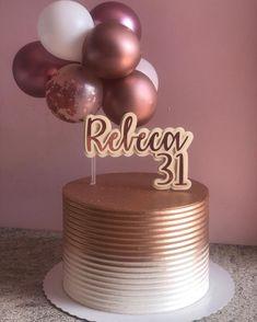 Elegant Birthday Cakes, Gold Birthday Cake, Beautiful Birthday Cakes, Birthday Cakes For Women, Birthday Cake Girls, Happy Birthday Cakes, Nutella Birthday Cake, Cake Decorating Frosting, 41st Birthday
