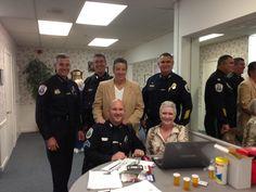 Senior Fair PD members, Chief Mark Doyle, Lt. Denise Roy, CSO Rob Kelleher, Capt. Mike Dudash, Lt. Matt Tarleton and Clair Rioux!