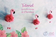 Tutorial de Flamencos Flamingo Craft, Flamingo Birthday, Christmas Crafts, Christmas Ornaments, Creative Crafts, Hobbies And Crafts, Diy Party, Decoration, Stuff To Do