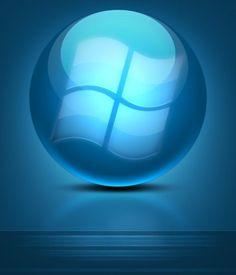 blue cool texture logo psd layered