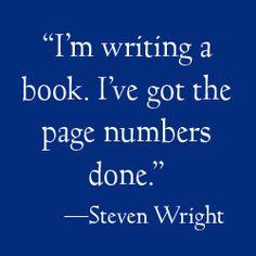 I love Steven Wright's humor.
