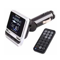 FM12B Bluetooth Coche Reproductor de MP3 Transmisor Inalámbrico de FM LCD Pantalla Cargador de coche con USB TF Tarjeta de Apoyo y Line-in AUX