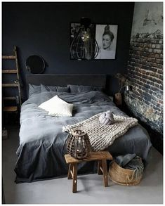 53 Stunning Gothic Bedroom Design and Decor Ideas ~ Bohemian Bedrooms, Gothic Bedroom, Gray Bedroom, Home Decor Bedroom, Bedroom Furniture, Bedroom Ideas, Bedroom Designs, Rustic Bedrooms, Bedroom Inspiration