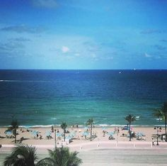 Sat and drank looking at this view many times in my life... Missing fla,,, Fort Lauderdale Beach