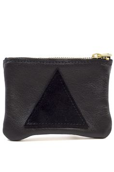 A basic black pouch with an added flare.